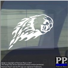 Tiger Flame-Vinyl Sticker-Car Window Graphic Decal Sign Animal,Striped,Carnivore